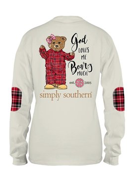 Simply Southern Collection Simply Southern God Loves Me Beary Much  - PEARL