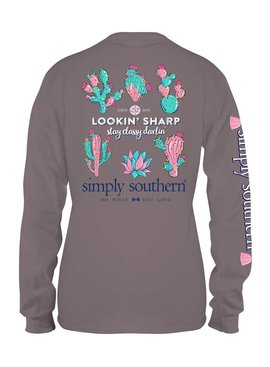Simply Southern Collection Simply Southern Lookin' Sharp Long Sleeve T-shirt -STEEL