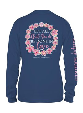 Simply Southern Collection Youth - Simply Southern Be Done in Love Long Sleeve T-Shirt - MOONRISE