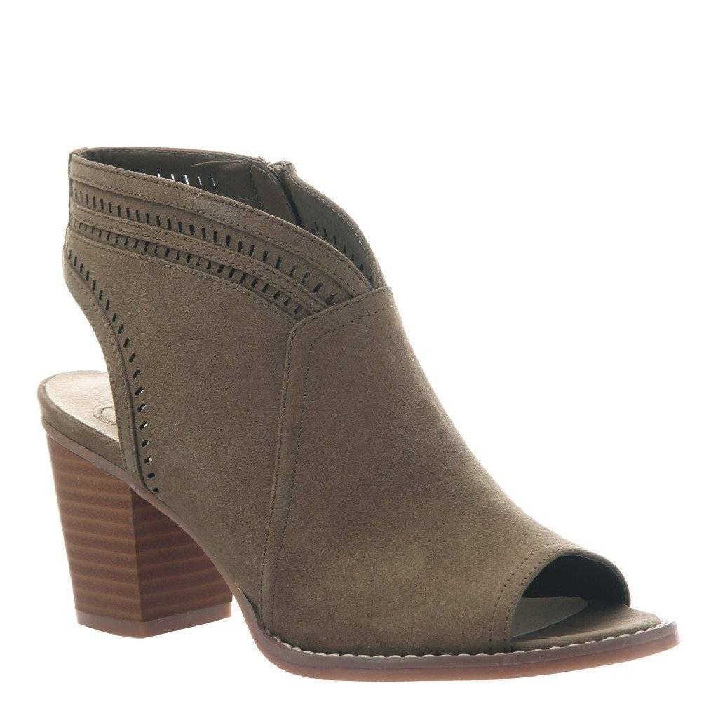 Madeline WATER LILY IN MUD OPEN TOE BOOTIES