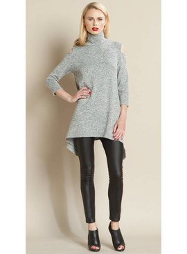 Clara Sun Woo Clara Sun Woo Mock Neck Sweater Tunic