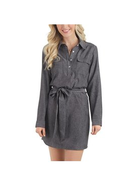 Mud Pie Mud Pie Coen Chambray Shirt Dress