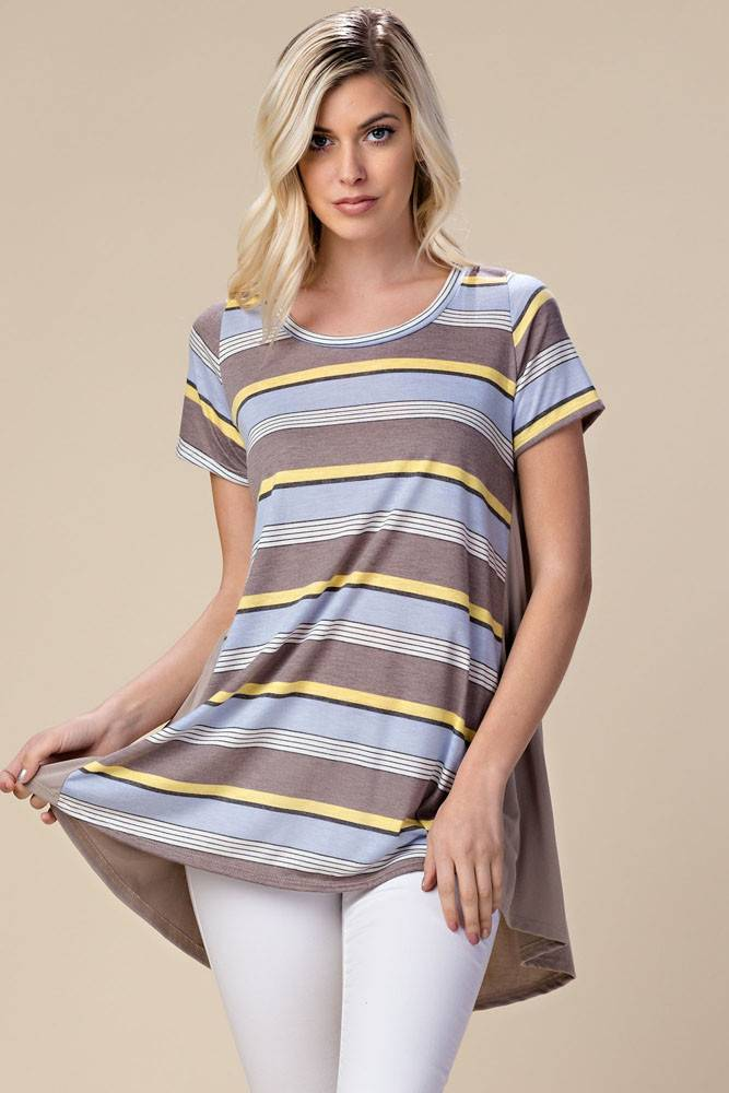 EE:SOME USA EE:SOME Multicolored Striped Tunic