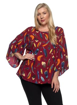 Spin USA Spin Floral Tunic Top