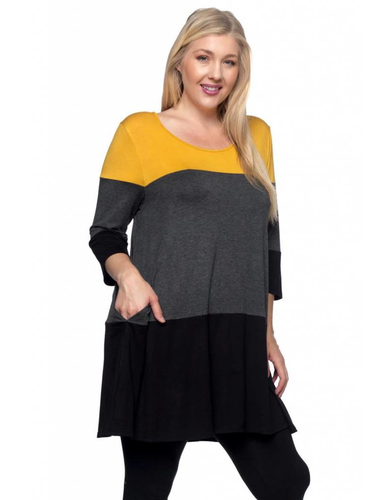 Spin USA Spin Knit Colorblock Dress