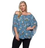 Spin USA Spin Floral Off Shoulder Blouse