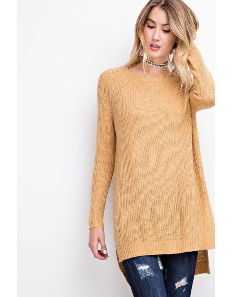Easel EASEL Cozy Knit Tunic