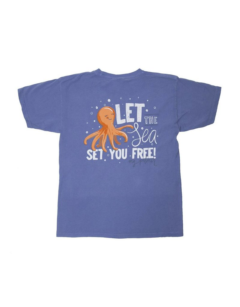 MG Palmer Youth MG Palmer Free By The Sea Tee - Flo Blue