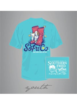 Southern Fried Cotton Youth - SFC Kiddin Around Tee - Robin's Egg