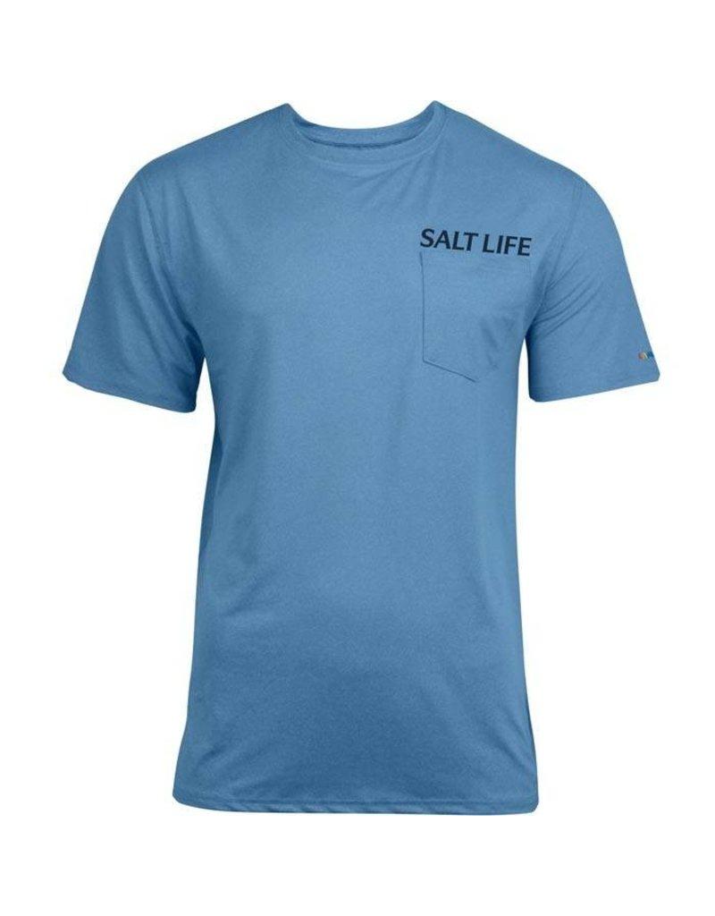 Salt Life Life In The Cast Lane SLX UVapor Pocket Tee
