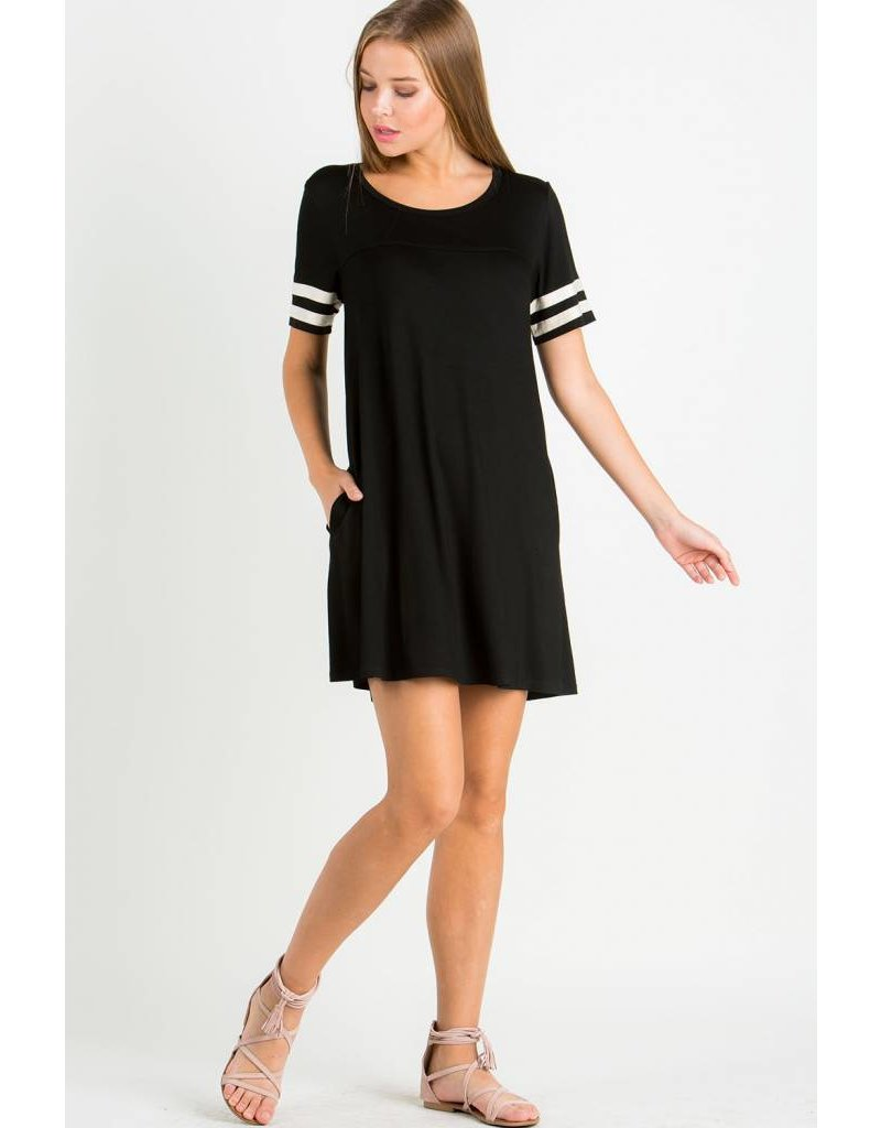 EE:SOME USA EE:SOME Varsity Strip Knit Dress
