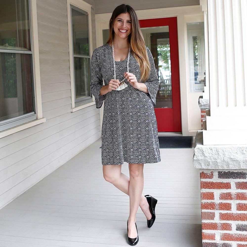buckhead betties Buckhead Betties echo black maren poly-knit dress