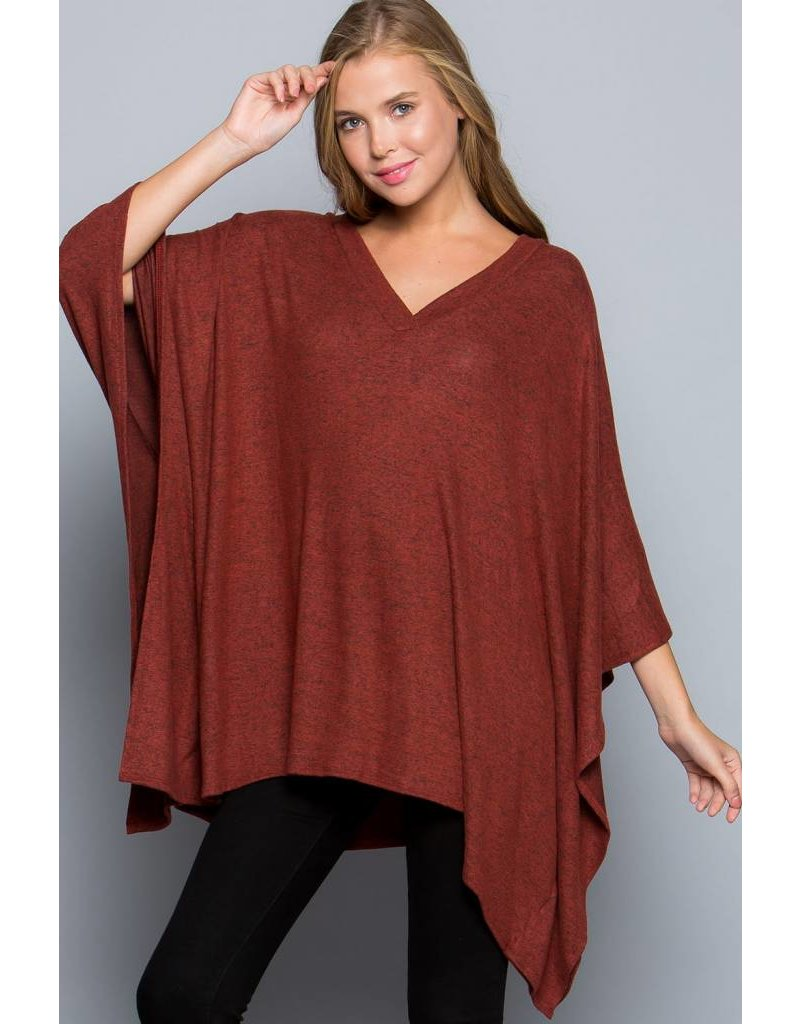 EE:SOME USA EE:SOME V-Neck Poncho Tunic