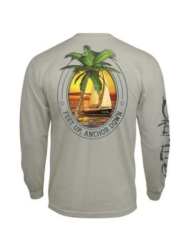Salt Life Salt Life Feet Up Anchor Down Long Sleeve Tee