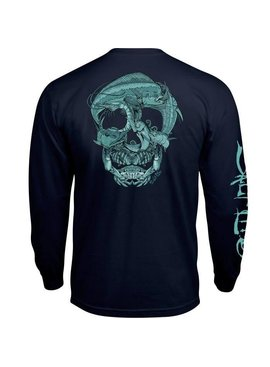 Salt Life Salt Life Sea Skull Long Sleeve Pocket Tee