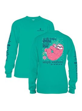 Simply Southern Collection Youth - Simply Southern Sloth Long Sleeve T-Shirt