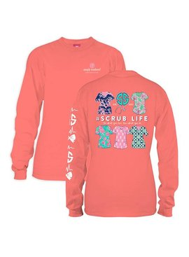 Simply Southern Collection Simply Southern Scrub Life Long Sleeve T-Shirt