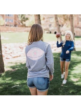 Lauren James LAUREN JAMES Seersucker Football Tee L/S