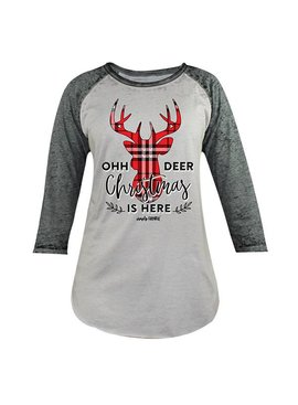 Simply Faithful Simply Faithful - Oh Deer Christmas is Here - Dark Grey