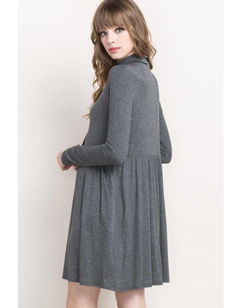 Mittoshop Mock Neck Tiered Dress