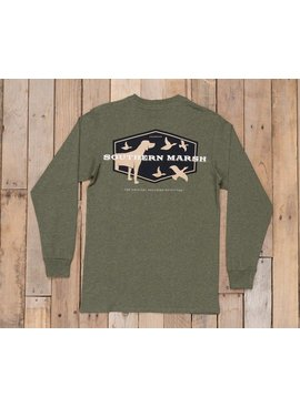 Southern Marsh Branding Collection Tee - Hunting Dog - Long Sleeve