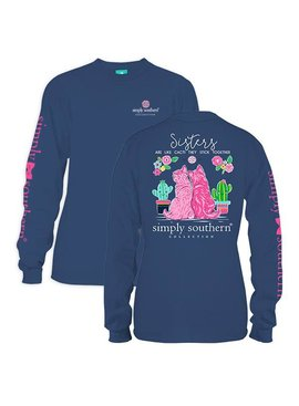 Simply Southern Collection Youth Simply Sisters Long Sleeve T-Shirt