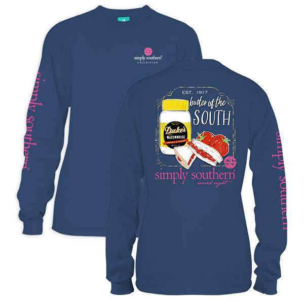 Simply Southern Collection Simply Southern Preppy Dukes Better In The South LS T-Shirt
