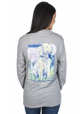 Lauren James Lauren James Peony Puppy - Long Sleeve