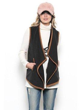 Ces Femme Ces Femme Solid Vest Cardigan