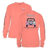 Simply Southern Collection YOUTH Simply Southern Preppy Besties LS T-shirt -SUNGLOW