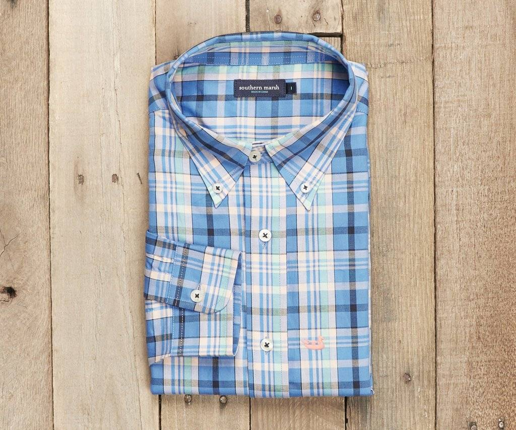 Southern Marsh Southern Marsh Walton Plaid Dress Shirt