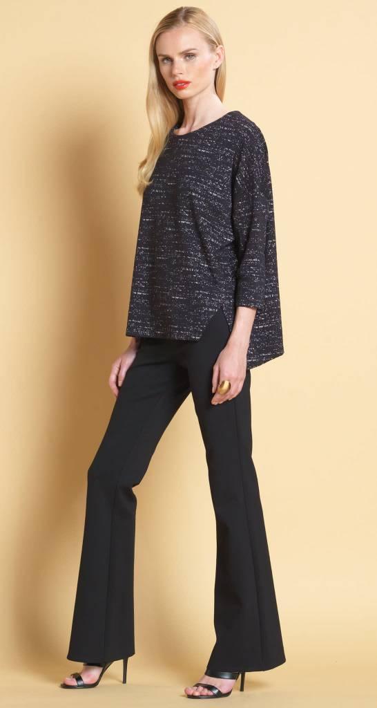 Textured Knit Print Top