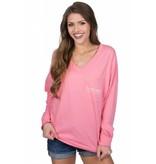 Lauren James Lauren James - V-Neck Logo Jersey - Long Sleeve
