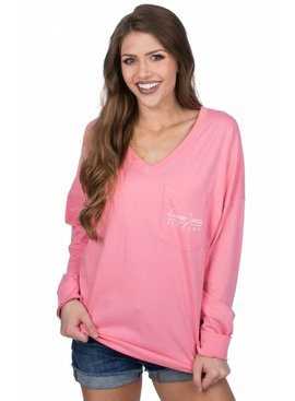 Lauren James Lauren James - V-Neck Logo Jersey - Long Sleeve