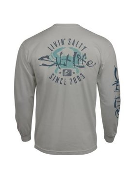 Salt Life Salty Crab Long Sleeve Pocket Tee