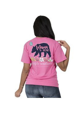 Simply Southern Collection Simply Southern Mama Bear  T-Shirt - Strawberry