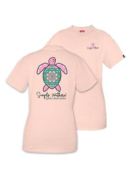 Simply Southern Collection Youth - SIMPLY SOUTHERN® SAVE THE TURTLES 'BOHO' SHORT SLEEVE T-SHIRT