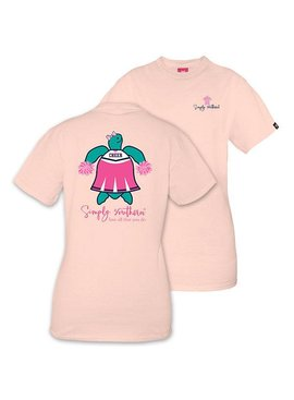 Simply Southern Collection SIMPLY SOUTHERN® SAVE THE TURTLES 'CHEER' SHORT SLEEVE T-SHIRT