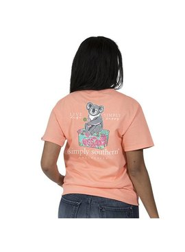 Simply Southern Collection SIMPLY SOUTHERN® SHORT SLEEVE PREPPY KOALA T-SHIRT