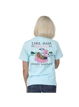 Simply Southern Collection SIMPLY SOUTHERN® SHORT SLEEVE PREPPY LAKE FLOAT T-SHIRT