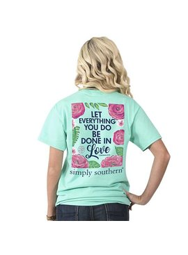 Simply Southern Collection SIMPLY SOUTHERN® SHORT SLEEVE PREPPY LET ALL T-SHIRT