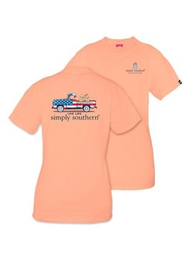 Simply Southern Collection SIMPLY SOUTHERN® SHORT SLEEVE PREPPY TRUCK T-SHIRT