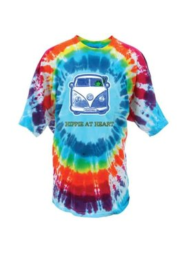 Peace Frogs, Inc Hippie At Heart Tie-Dye T-Shirt