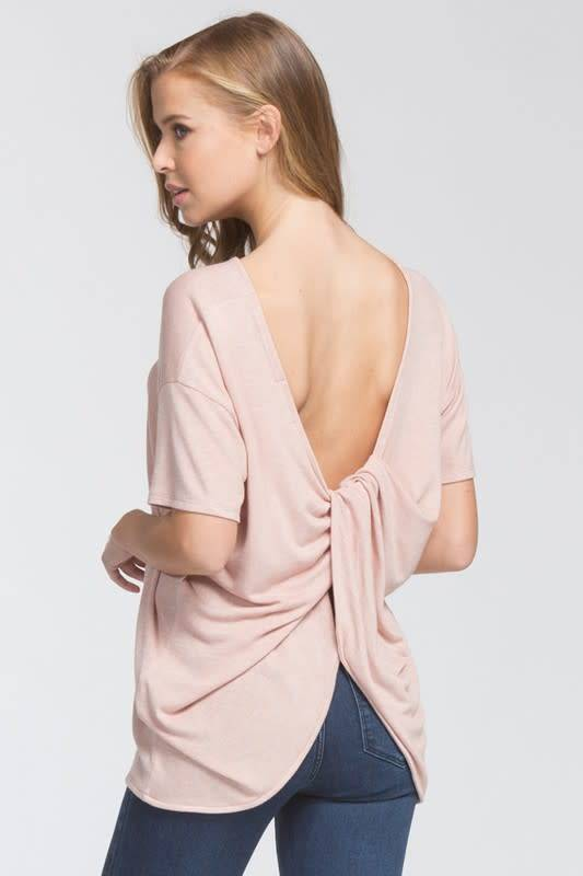 Cherish Twist Back Knit Top