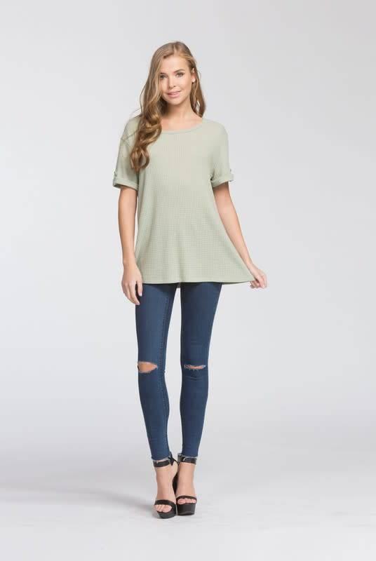 Cherish Short Sleeve Tab Top