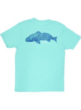 AFTCO AFTCO - Redfish Linocut - T-Shirt
