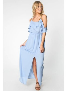Everly EVERLY Cold Shoulder Maxi