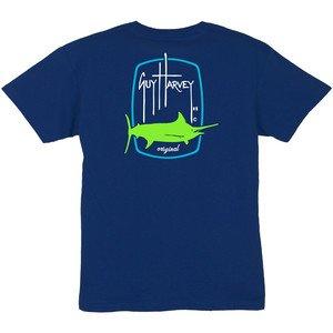 Guy Harvey Guy Harvey Barrel Logo Boys Short Sleeve Shirt