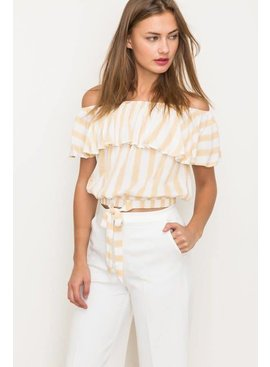 Hem & Thread, INC. Hem & Thread Ruffle Crop Top