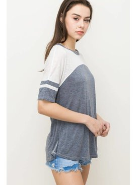 Hem & Thread, INC. Hem & Thread Color Block Top